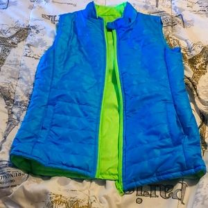 Layer 8 reversible puffer vest